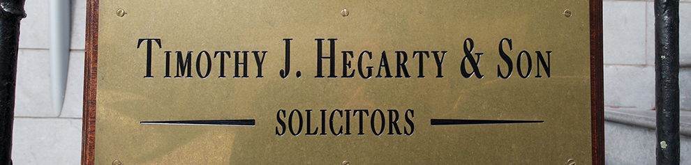 T. J. Hegarty Solicitor Sign